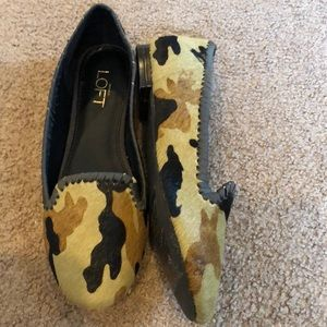 Ann Taylor Loft camo printed loafers - new